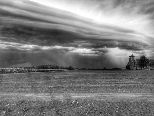 Streamzoofamily Streamzoo Blackandwhite Bw Monochrome Blackandwhite Photography EyeEm Nature Lover Nopeople Alone Nature Storm Cloud Rural Scene Agriculture Sky Cloud - Sky Landscape Storm Cumulonimbus Torrential Rain Meteorology Sky Only Extreme Weather