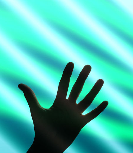 Close-up of silhouette hand