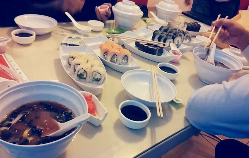 Lunch time with friends