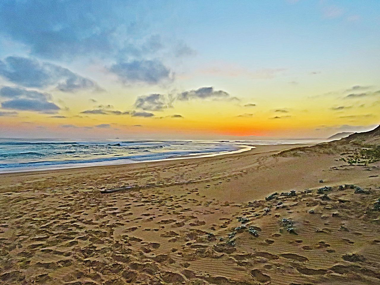 sand, beach, sea, scenics, nature, sunset, beauty in nature, sky, tranquility, tranquil scene, water, horizon over water, outdoors, no people, sand dune, day