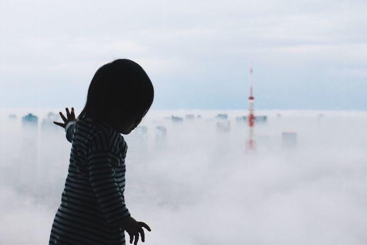東京タワー Hello My Baby Vscocam VSCO Tokyo Sky And Clouds Sky Baby Silhouette EyeEm Best Shots