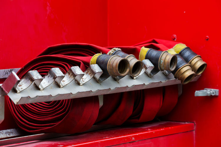 rolled up firehoses Alarm Brigade Burglar Burning Car Clock Close-up Danger Emergency Engine Equipment Extinct Extinguisher Extinguishing Fire Fire-brigade Firefighter Hose Jet Land Office Perks Rescue Safe Safety Security Services Sign Spare Togetherness Truck Urgency Vehicle Water Fish