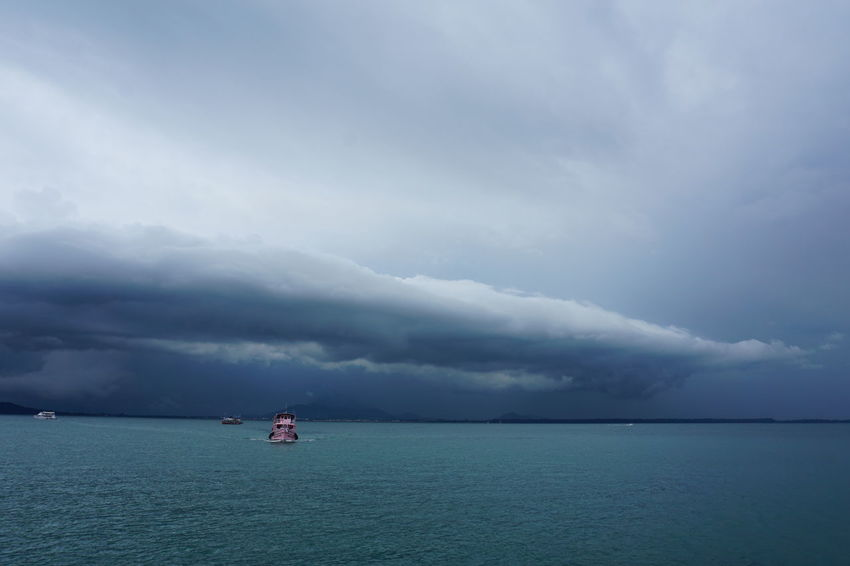 Stormy clouds Astrology Sign Beauty In Nature Boats Cloud - Sky Day Daytime Eco Tourism Island Escape Island Experience Koh Samed Landscape Nature Nautical Vessel No People Outdoors Rain Rayong Samed Sea Season  Sky Storm Storm Cloud Storm Clouds Stormy Weather