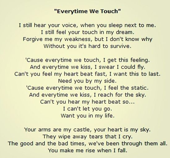 Everytime We Touch Travel trav#Love Hot