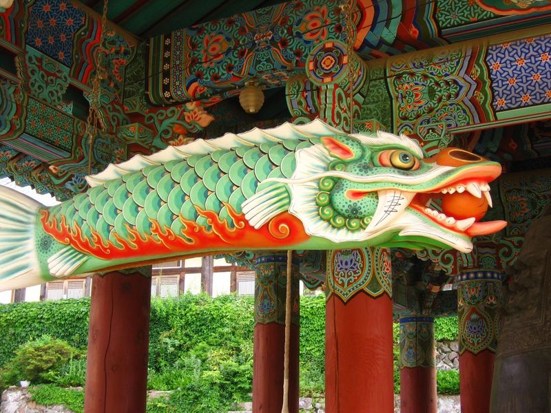 Gyeongju Bulguksa Budhist Temple Dragon Fish South Korea