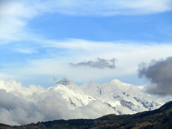 Illimani, La Paz, Bolivia. Beauty In Nature Clouds Day Illimani Landscape Mountain Nature No People Outdoors Scenery Scenics Sky Snow Snowcapped White Wilderness