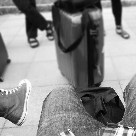 Väntar på nästa buss.