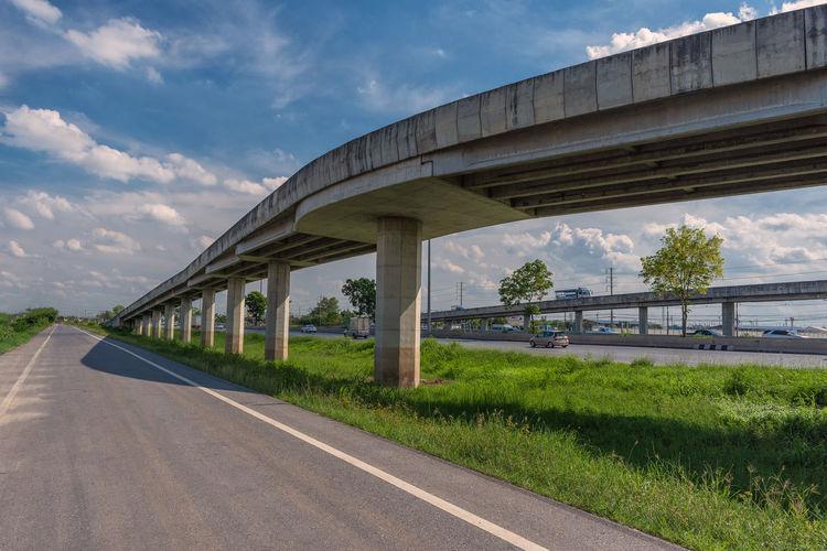 Road By Bridge Against Sky In City