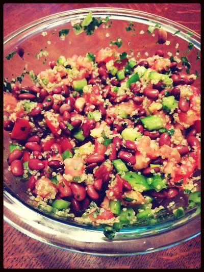 Lunch this week. Mealplanning WhosaysIcantcook Quinoa Salad Yumyuminmytumtum