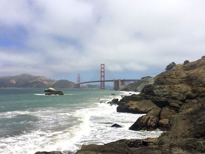 Golden Gate Bridge Over Sea