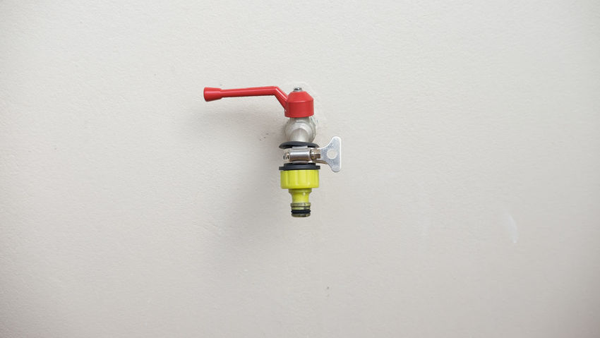 Water faucets on plaster walls Architecture Close-up Faucets No People Outdoors Sprinkler System Tap Water Tap