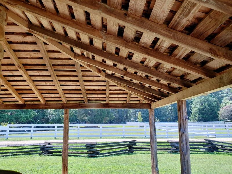 Design Split Rail Fence Roof Beam Roof Framework Fences Framing The View Framing Porch Frame Underneath Sky Architecture Built Structure Shelter