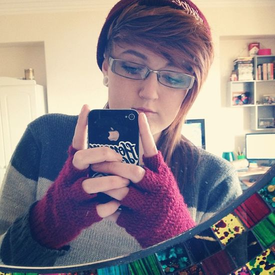 Get yer hats gloves and wooly jumpers oot. Winter Wooly Cosey Cold warm hat hype red gloves selfie specks ginger