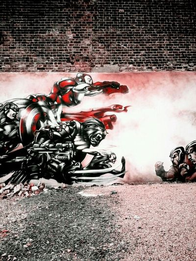 Marvelous Streetart Street Art Street Photography Andrography Red London Comic Books Android Superheroes Andrographer Streetphotography