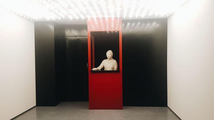 Centre Pompidou Malaga Places Art Gallery No People Human Representation Statue Sculpture Art Male Likeness