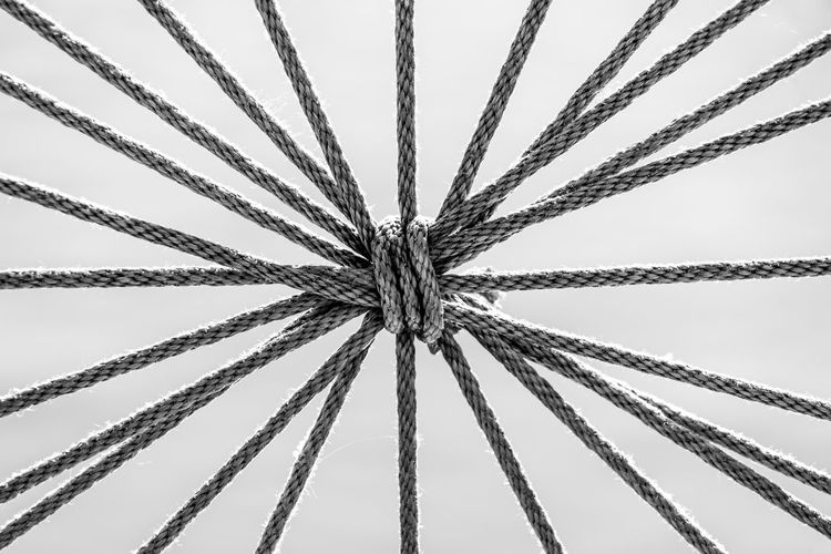 Close-Up Of Ropes Against Water