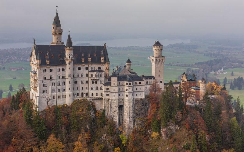 Exterior of castle against sky