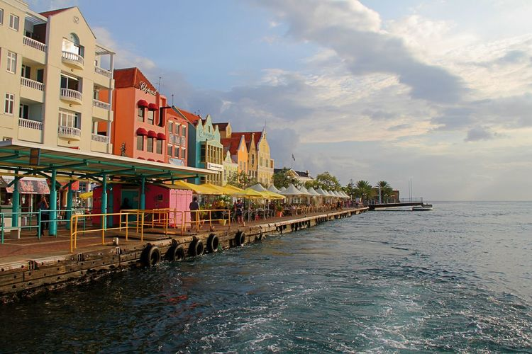 Caribbean Sea Handelskade Schottegat UNESCO World Heritage Site Architecture Building Exterior Built Structure City Curacao Day No People Outdoors Sea Sky Travel Destinations Water Waterfront