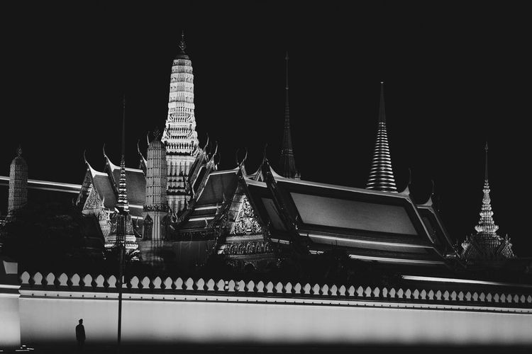 Bangkok Emerald Buddha Temple Blackandwhite Khaosanroad Temple Tourism Destination