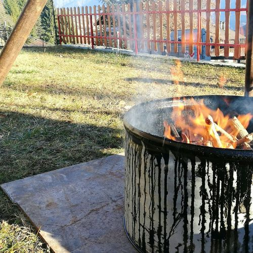 Fire Life Lastdayofyear Italy BORNO No People Outdoors Barbecue Heat - Temperature Day Food Nature Grilled Freshness