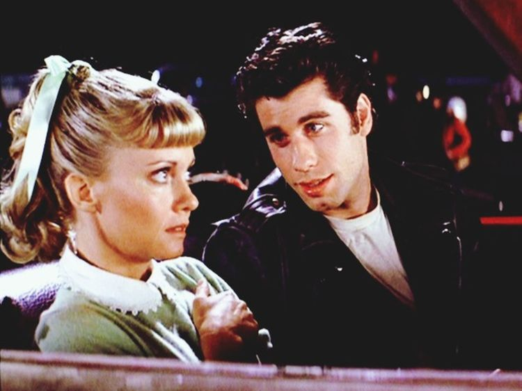 Olivia Newton John and John Travolta in Grease Movies Grease Cinema Car Date Greaser Check This Out