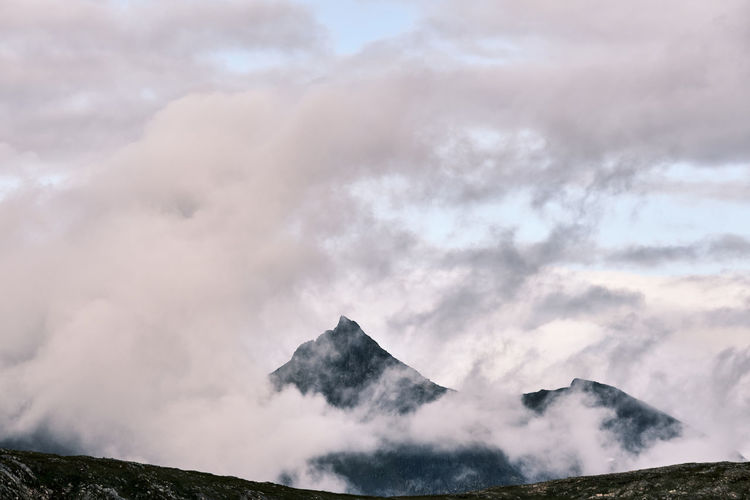 Landscape of mountains against sky