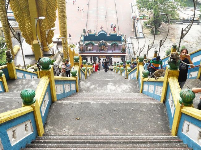 Batu Caves Day Kuala Lumpur Malaysia On The Road Outdoors Passionpassport Stairs Temple Travel Traveling