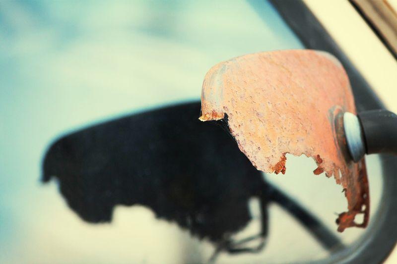 who ate my door Mirror ? Nice Detail of a Rusty Vintage Car