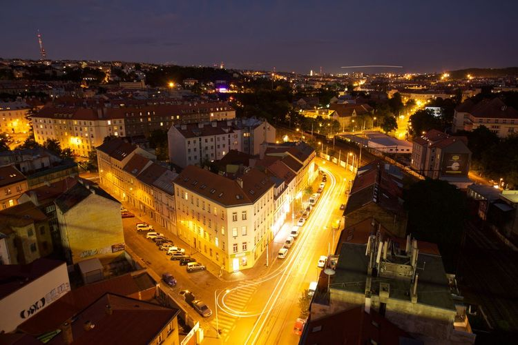 Architecture Cityscape Prague Prague Czech Republic Architecture Building Exterior Cityscape Illuminated Landscape Night Nusle