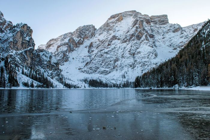 2017 322/365 Alto Adige Dolomites Ice November 18 Südtirol Trentino Alto Adige Alps Beauty In Nature Bolzano Braies Braies Lake Cold Temperature Day Frozen Italy Lake Landscape Mountain Mountain Range Nature No People One Year Project Outdoors Pustertal Scenics Sky Snow Snowcapped Mountain Tranquil Scene Tranquility Val Pusteria Water Waterfront Winter Perspectives On Nature