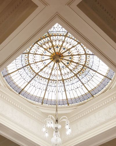 Low Angle View Indoors  Ceiling Architecture Built Structure Dome No People