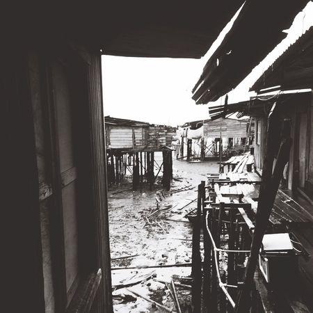 Palafitte Dwellings Blackandwhite