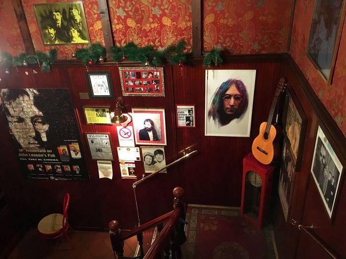 TakeoverMusic Italy Italia Torino Turin Music Rock 70s Peace Love John Lennon Beatles Architecture Pub Travel Travel Destinations Travel Photography Indoors