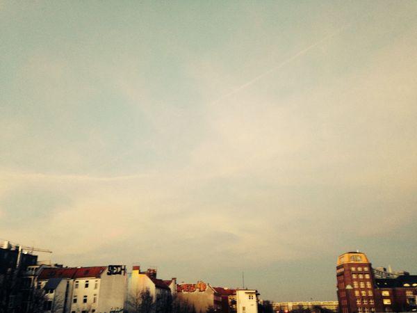 Berlin Bigsky Cold Colourful Grafitti Landscape Ostkreuz Perspective Whispy Clouds