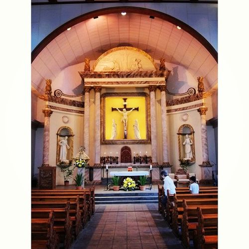 I like the silence of a church, before the service begins better than any preaching. -Ralph Waldo Emerson Photooftheday Church Ateneo Quotes Light Sunday Filter