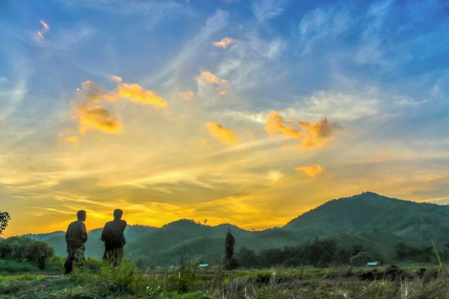 Mountain landscape with twilight background. Taking Photos Check This Out Nature Twilight Outdoor Mountain_collection Nature #landscape #photography #forest #moutain #clound #sky #blue #peace Landscape Nature_collection Sunset