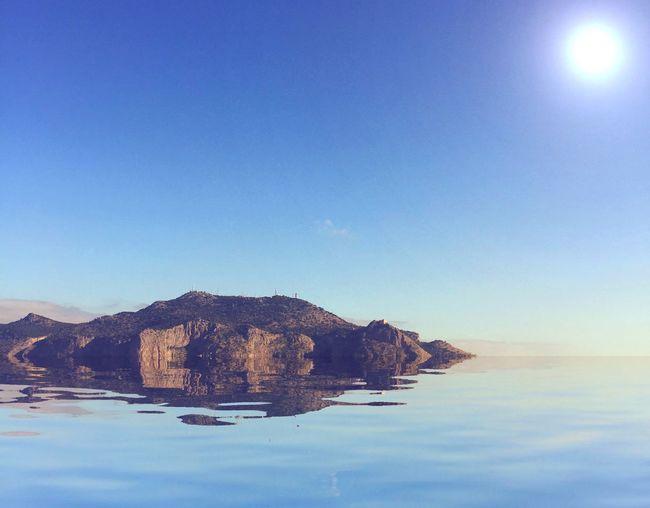 Isola Sky Cielo Azzurro Nuvola Paesaggio Mare Immaginario Sun Sole Un'isola nel mio immaginario