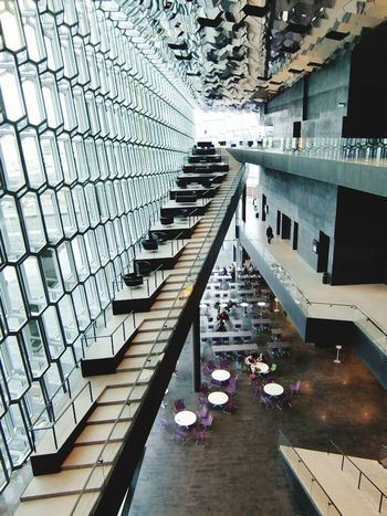 Architecture Built Structure Indoors  Modern Steps And Staircases Iceland Reykjavik North Europe Cold Ice Harpa Glass - Material Clear