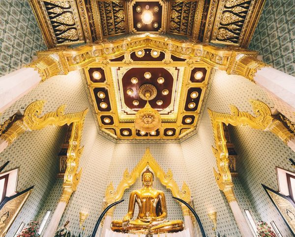 Paint The Town Yellow Yellow Buddha Gold Architecture Architecture_collection Symmetry Architectural Feature Bangkok Golden Thailand The Week On EyeEm
