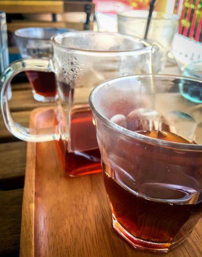 #coffee #handbrew Ethopia Handbrewcoffee Drink Refreshment Table Drinking Glass Alcohol Ice Cube