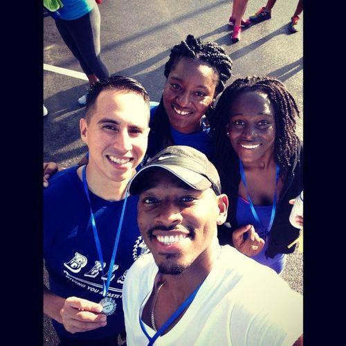 Diabetes awareness walk/run barbados ;-) ....nice run .... Fun WearBlue Belizeansrepresent 6am @_daleg @chocolatechiq17
