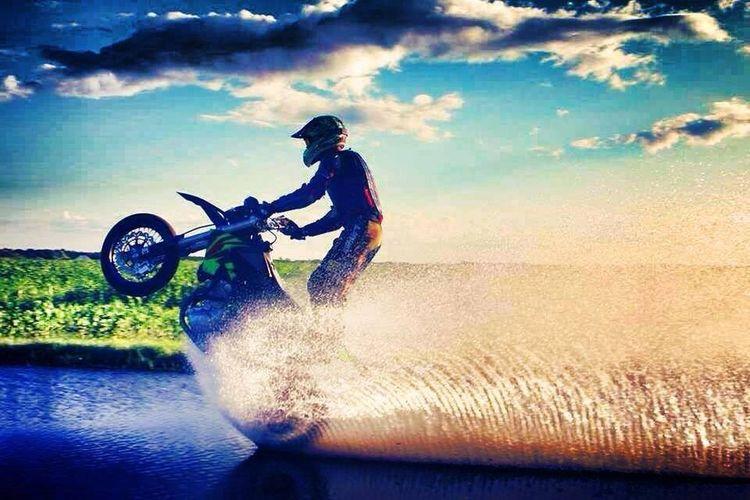 Motocykle Motocross Stunt Pasjs