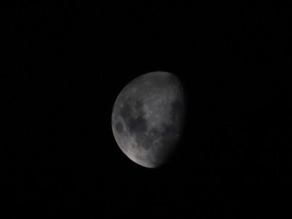 Moon Moon Space Night Astronomy Sky Planetary Moon Moon Surface Beauty In Nature Low Angle View Tranquility Dark Half Moon Outdoors