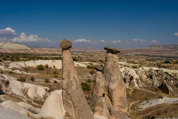 Göreme Turkey Turkish Cappadocia Sky Landscape Environment Scenics - Nature Rock Tranquil Scene Tranquility Beauty In Nature Non-urban Scene Cloud - Sky Solid No People Nature Mountain Rock - Object Day Rock Formation Land Remote Desert Outdoors Arid Climate Climate Eroded Salt Flat
