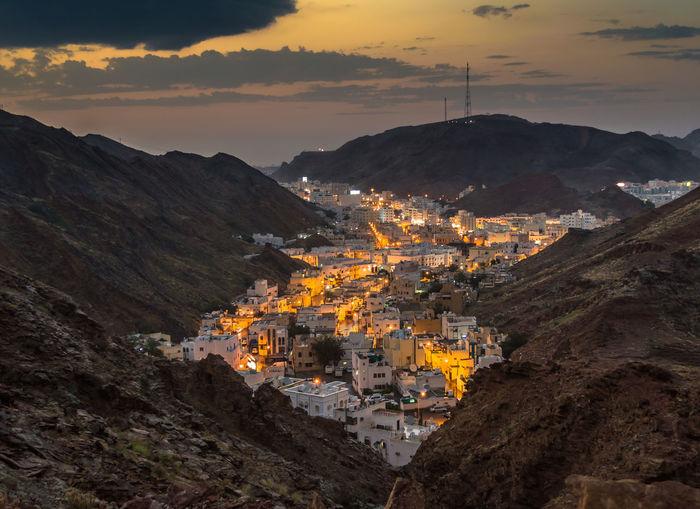 City City Lights Cloud - Sky Hills Landscapes Lights In The Dark Sunset Valley