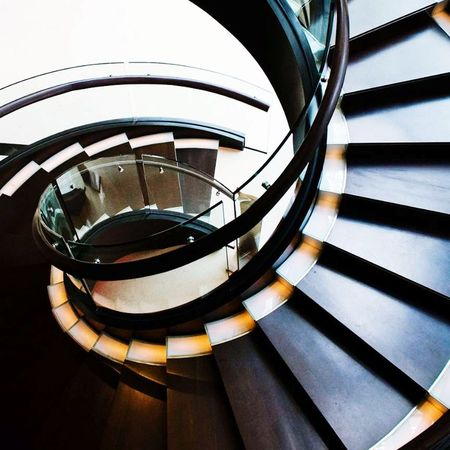 Spiral Staircase Steps And Staircases Architecture Railing Built Structure No People Spiral Staircase Day Indoors