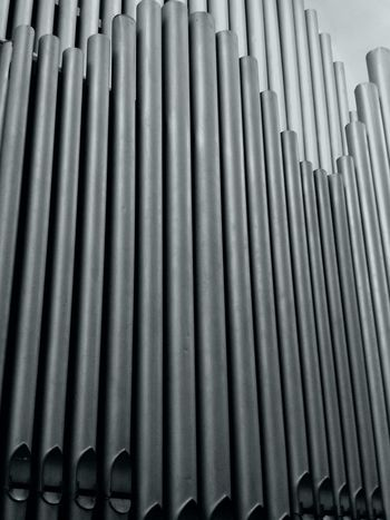 Pattern No People Full Frame Close-up Harmonium Church Organ Pipes Metallic Pipes