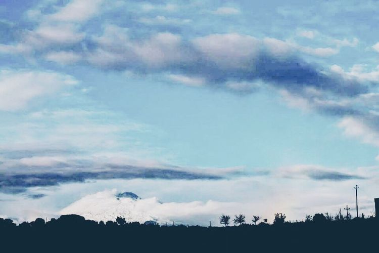 Etna Tranquil Scene Landscape Scenics Tranquility Tree Sky Beauty In Nature Silhouette Nature Cloud - Sky Non-urban Scene Cloud Growth Majestic Outline Calm Cloudscape Day Remote Dark
