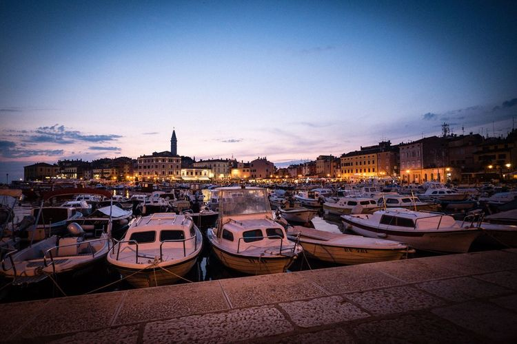 Rovinj Ship Harbor Rovinj Croatia Sky No People Transportation Architecture Building Exterior Built Structure Nature City Outdoors Water