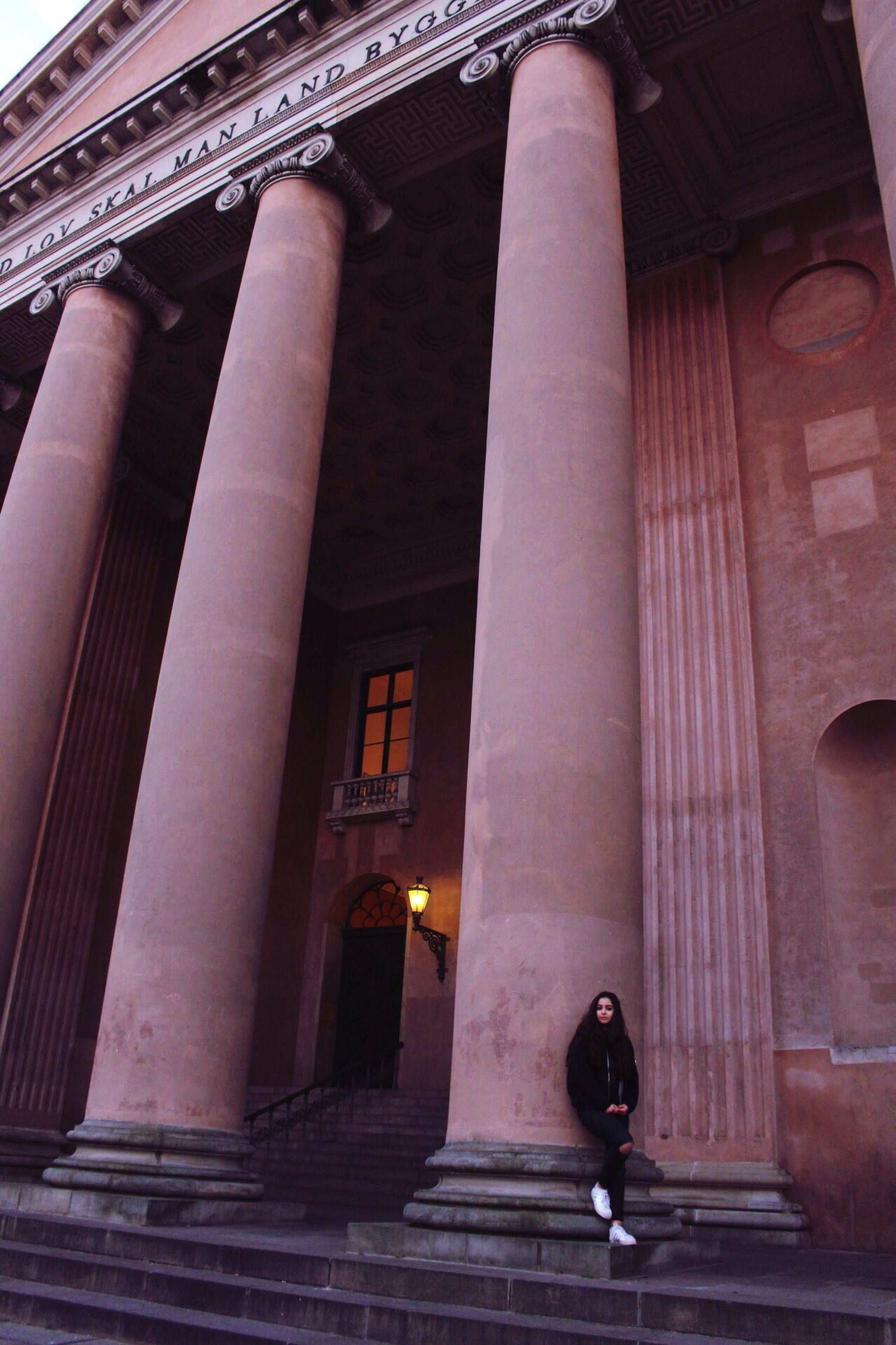 architecture, built structure, building exterior, architectural column, outdoors, no people, illuminated, day